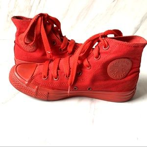 Converse Red All Star High Top Size 8 Sneakers